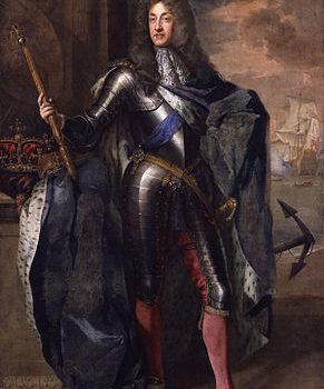 Portret van James II van Engeland in wapenuitrusting